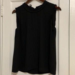 J. Crew blouse, black, sleeveless w/ tie back